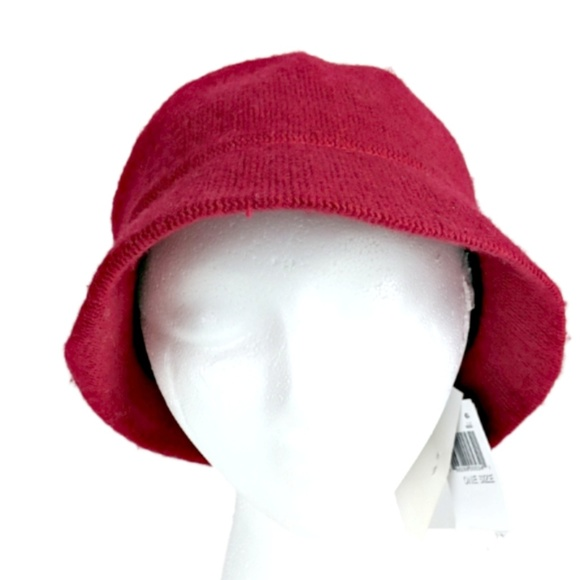 6dc764c4ae2 August Hats Cloche Red Wool Blend Packable